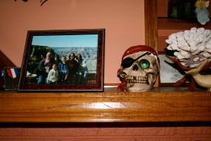 Please notice not only the creepy pirate skull but also the stolen coral reef from the ocean.