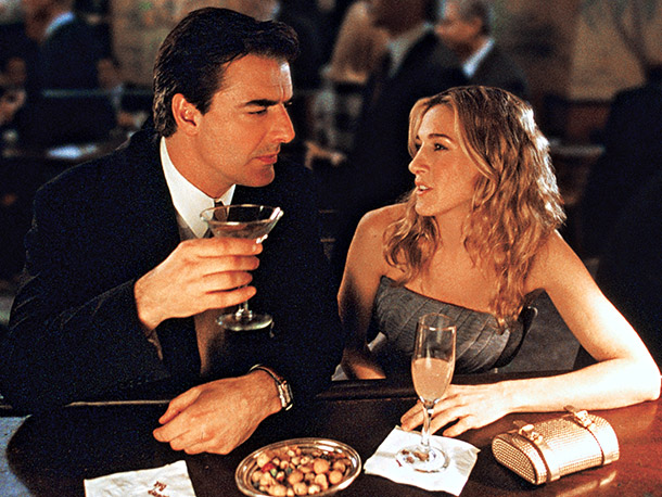 I am dating Mr. Big, kind of. And my hair looks better than Carrie's, kind of.