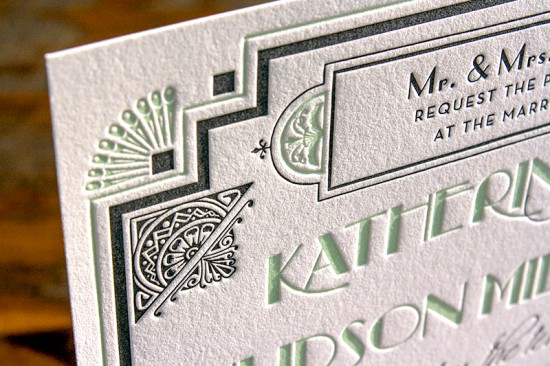 Lucky-Luxe-Couture-Correspondence-Gatsby-Letterpress-Wedding-Invitations-550x366