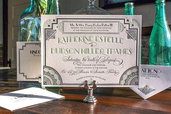 Lucky-Luxe-Couture-Correspondence-Gatsby-Letterpress-Wedding-Invitations2-550x366