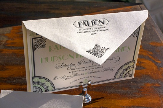 Lucky-Luxe-Couture-Correspondence-Gatsby-Letterpress-Wedding-Invitations4-550x366