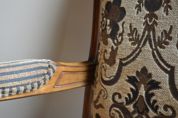 I love the wood and the fabric and everything about the chair.