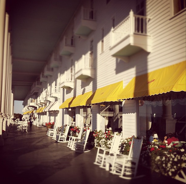 The porch is famous. It is the LONGEST PORCH IN THE WORLD.