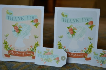 Maid of Honor and Bridesmaid cards.