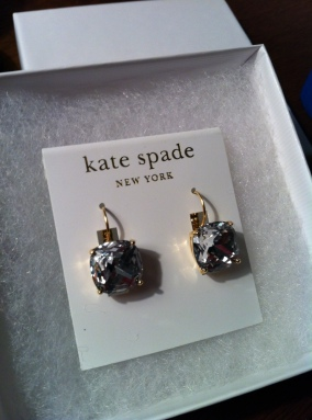 Birthday gift from Mr. Speedy's sister's family... she knows me too well! Love KSPADE!