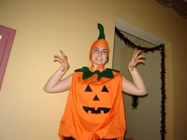 This is the only picture from that night. And this is before I had my pumpkin paint on and full stuffing.