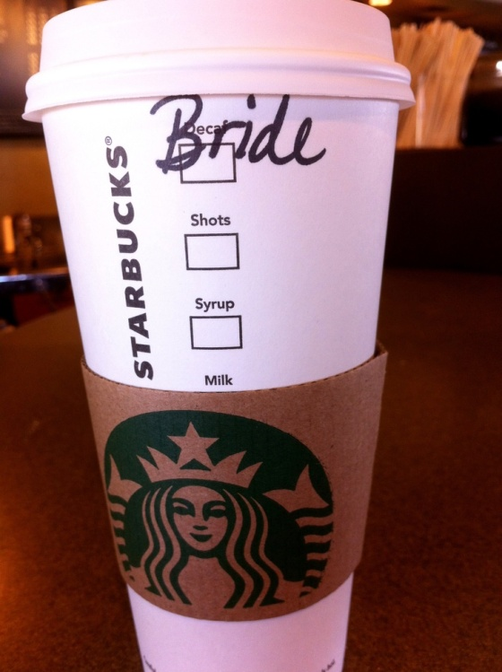 If you go to starbucks and ask them to write something special- they will!