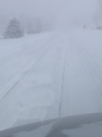 A co-worker snapped this while driving to work... no joke. Michigan is brutal.