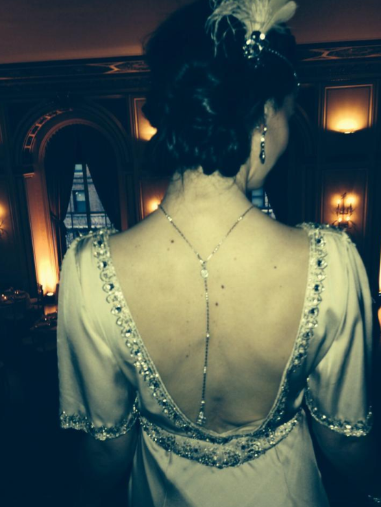I am only going to wear backless gowns now.