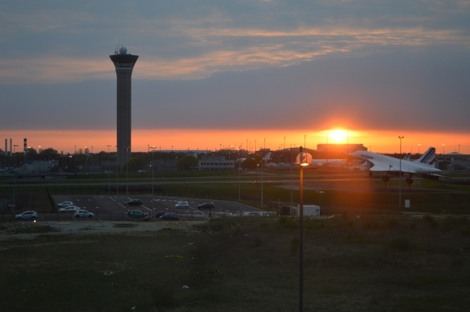 Airport sunset.