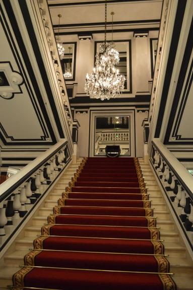 Lobby stairs.