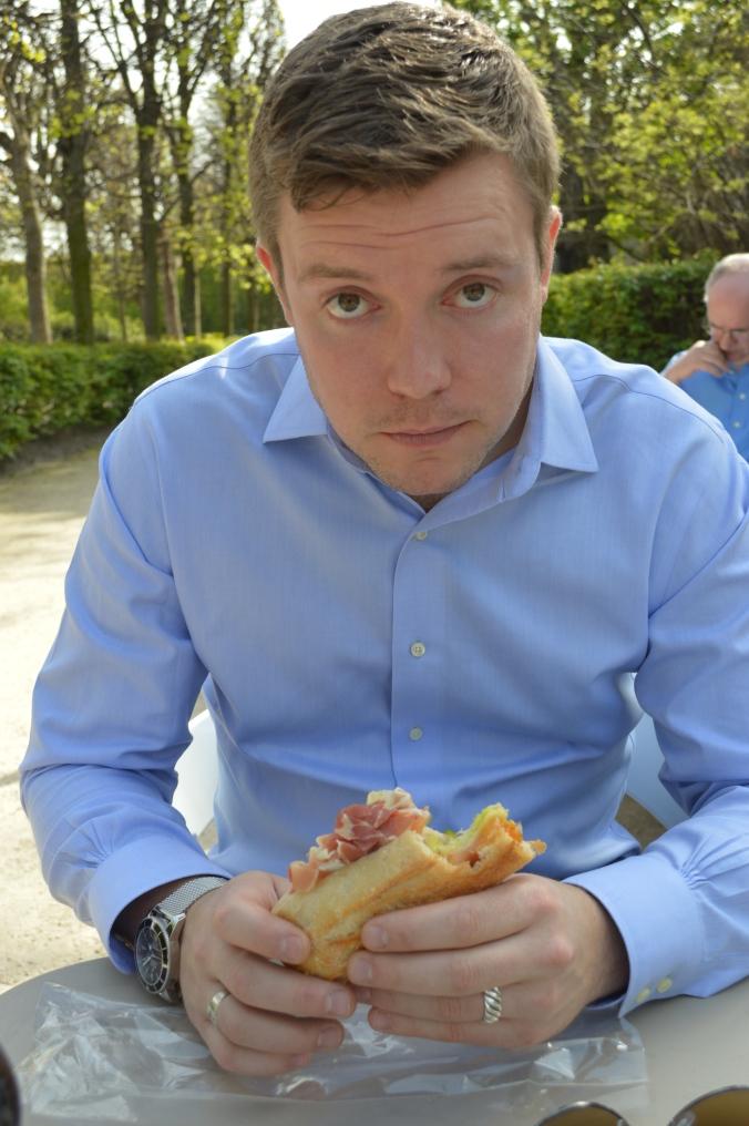 Sandwich and husband.