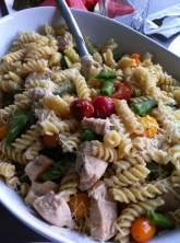 Summer pasta veggie salad!
